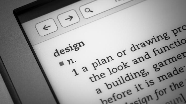 עיצוב- תמונה של צילום מסך מחשב עם תוצאות חיפוש לפירוש המילה ״עיצוב״